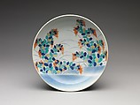 Dish with Bush Clover Design, Porcelain painted with overglaze enamels (Hizen ware, Nabeshima type), Japan