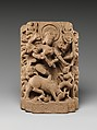 The Goddess Durga Slaying the Buffalo Demon (Mahisasura Mardini), Sandstone, India (Rajasthan)