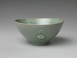 Bowl with decoration of fish, Stoneware with inlaid design under celadon glaze, Korea