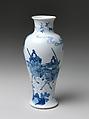 Vase with Warrior, Porcelain painted with cobalt blue under transparent glaze (Jingdezhen ware), China