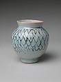 Jar with Stylized Net Design, Porcelain with underglaze blue decoration (Hizen ware, early Imari type), Japan