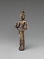 Standing Bodhisattva, probably Maitreya, Silver alloy, Thailand (Buriram province, Prakhon Chai)