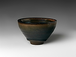 Tea Bowl with Hare's-Fur Decoration, Stoneware with copper-oxide glaze (Jian ware), China