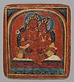 Initiation Card (Tsakalis): Chenresi (Avalokiteshvara), Opaque watercolor on paper, Tibet