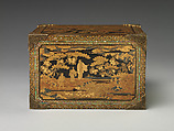 Cabinet with Drawers in Nanban (Southern Barbarian) Style, Gold maki-e on black lacquer, inlaid with mother-of-pearl; gilt-bronze mounts, Japan