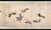 Flowers and Butterflies, Attributed to Ma Quan (active first half of 18th century), Handscroll; ink and color on paper, China