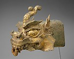 Rafter finial in the shape of a dragon's head and wind chime, Gilt bronze, Korea