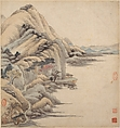 Landscapes in the styles of ancient masters, Wang Jian (Chinese, 1609–1677 or 1688), Album of eighteen leaves; ink and color on paper, China