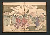 Statue of the Bodhisattva Fugen (Fugenzō), Kitagawa Utamaro (Japanese, ca. 1754–1806), Polychrome woodblock printed book; ink and color on paper, Japan