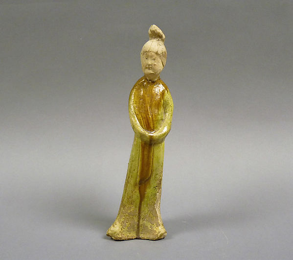 Figure of a Standing Woman, Glazed earthenware, China