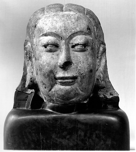 Head of Buddha, Stone, originally painted and gilded, China