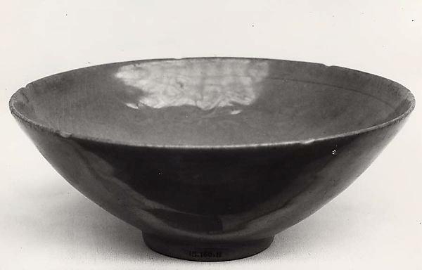Bowl, Stoneware with mold-relief decoration under celadon glaze, Korea