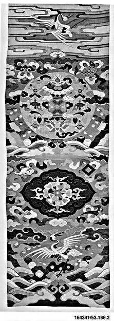 Chair cover, Silk and metallic-thread tapestry (kesi), China
