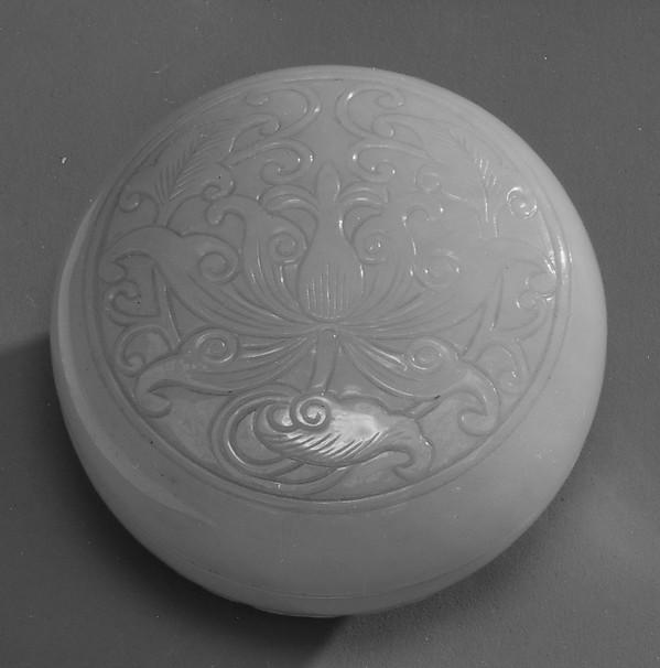 Covered seal box, Nephrite, China