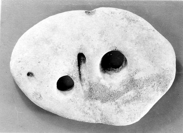 Stone Mask, Perforated sandstone, presumed to be natural, Japan