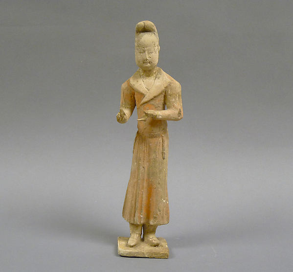 Figure of a Standing Man, Earthenware with painted decoration, China