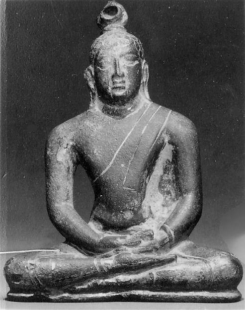 Seated Buddha in Cross-Legged Position, Bronze, Sri Lanka