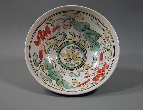 Bowl, Stoneware with overglaze polychrome (Cizhou ware), China