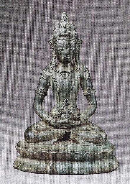 Seated Amitāyus, the Buddha of Eternal Life, Bronze, Burma