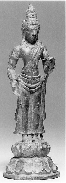 Standing Bodhisattva on Tall Base, Bronze, Indonesia (Java)