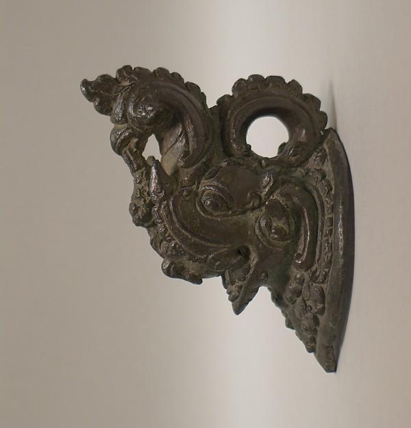 Makara-Shaped Handle, Bronze, Indonesia (Java)