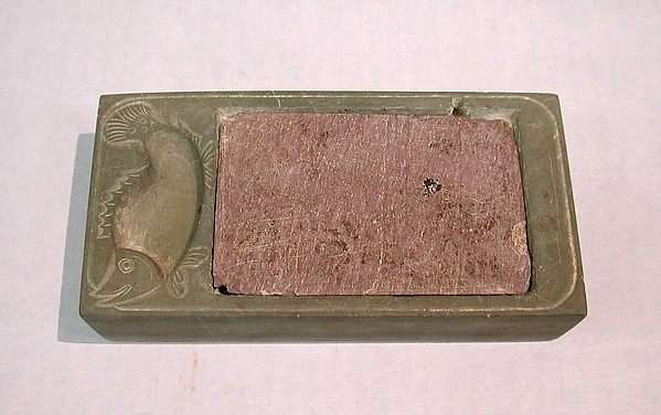 Rectangular Inkstone with Cover, Stone, China