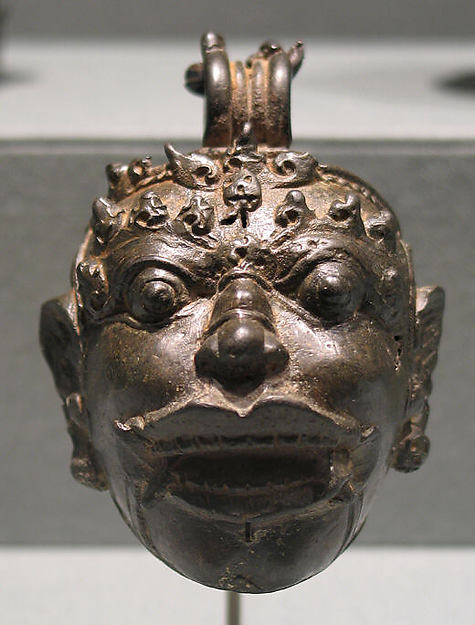 Pellet Bell in the Form of a Kala Head, Bronze, Indonesia (Java)