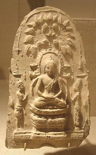 Buddha Seated Under the Bodhi Tree, Terracotta, Thailand (Buriram province[?])