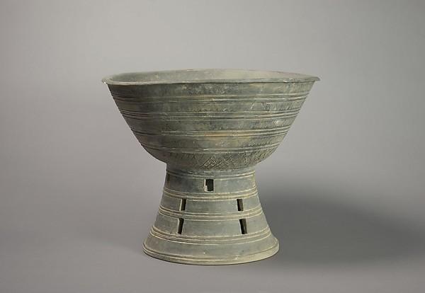 Bowl Shaped Pedestal, High fired pottery, Korea