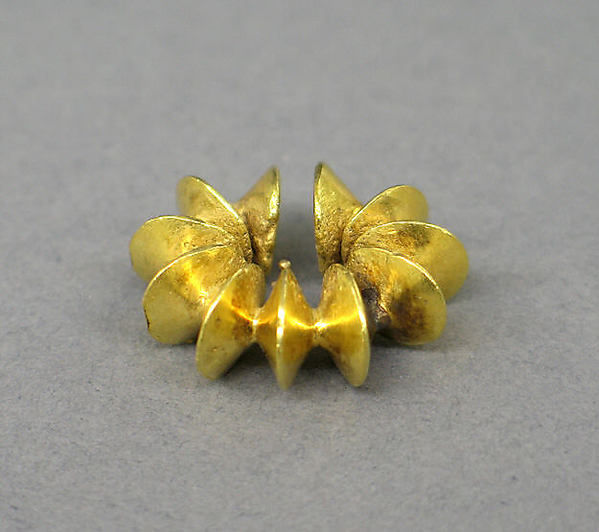 Ear Clip Composed of Fused Discs, Gold, Indonesia (Java)