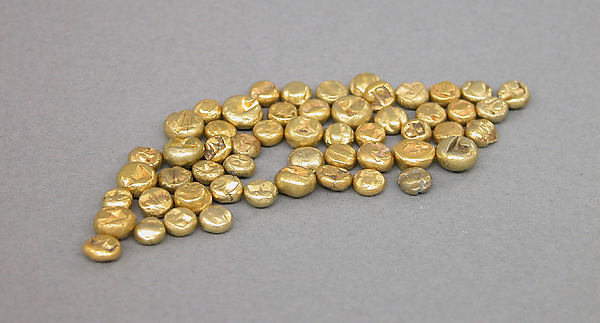 Fifty-Four Small Piloncito Coins, Gold, Indonesia (Java)