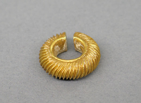 Pair of Ear Clips, Gold, Indonesia (Java)