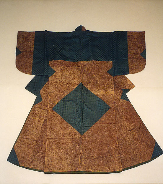 Man's Paper Garment, Paper with silk satin damask patches, Japan