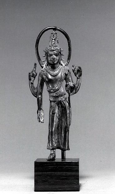 Standing Bodhisattva with Halo, Bronze, Indonesia (Java)