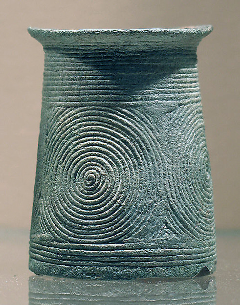 Small Cuff with Concentric Circles, Bronze, Thailand (Ban Chiang)