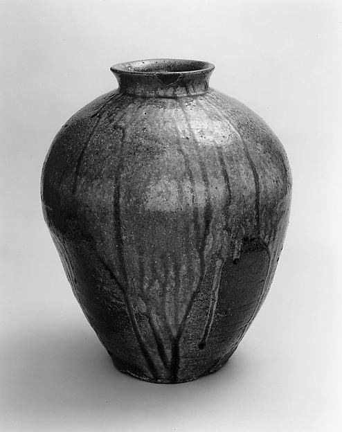 Jar, Tanba ware; stoneware with natural ash glaze, Japan