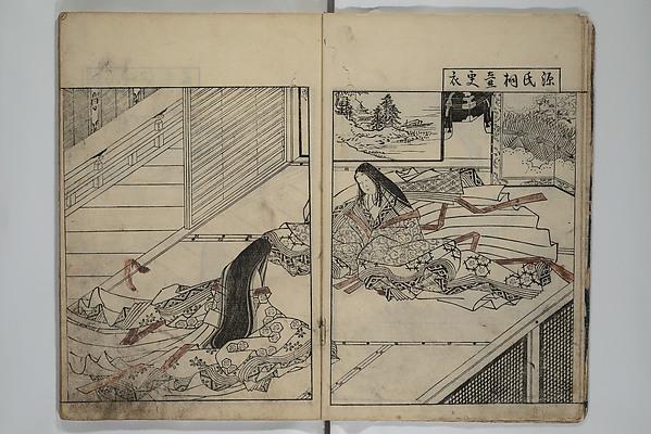 Picture Book of the Evergreens (Ehon tokiwagusa), Nishikawa Sukenobu (Japanese, 1671–1750), Woodblock-printed book; ink and hand-coloring on paper, Japan
