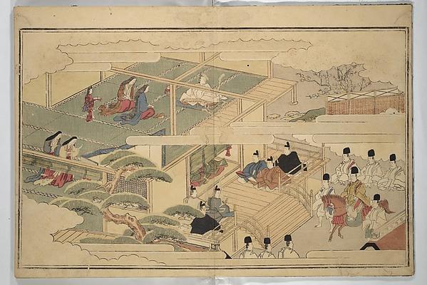 The Young God Ebisu (Waka ebisu), Kitagawa Utamaro (Japanese, ca. 1754–1806), Woodblock printed book; ink, color, and brass dust on paper, Japan