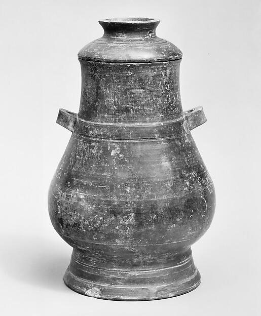 Vase (Hu), Burnished earthenware, China