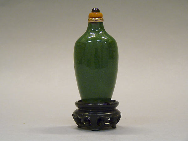 Snuff Bottle, Porcelain with glass stopper, China
