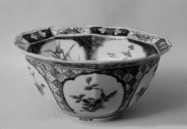Ten-Sided Bowl, Porcelain decorated with enamels (Arita ware, Imari type), Japan