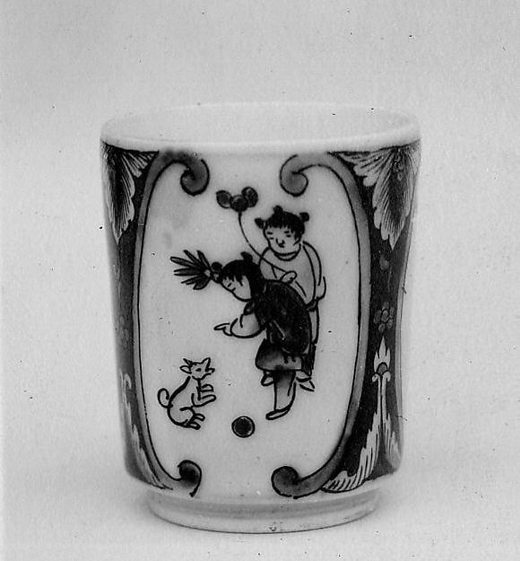 Cup, Porcelain decorated with enamels (Arita ware, Imari type), Japan