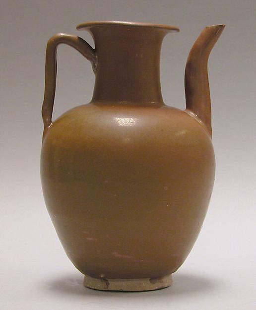 Ewer, Stoneware with red-brown glaze (Northern ware), China