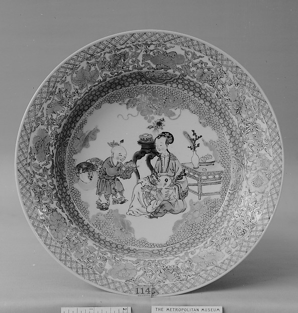 Plate, Porcelain painted in overglaze famille rose enamels and gilt, China