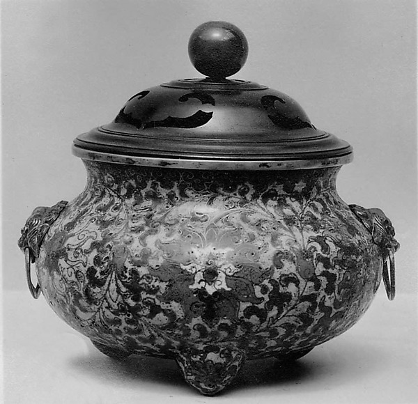 Incense Burner, Cloisonné enamel on gilt copper, China
