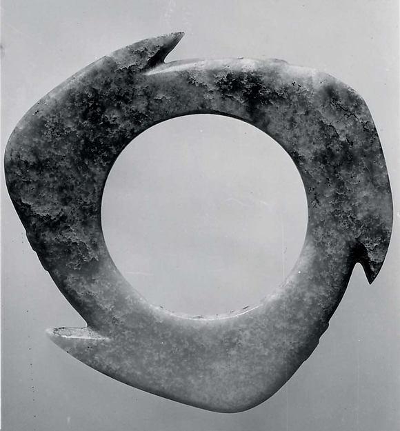 Notched Disk (Xuanji), Jade (nephrite), China