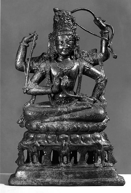 Vajradharma Lokeshvara, Bronze with silver inlay, Pakistan (NW Frontier Province, probably Swat Valley)