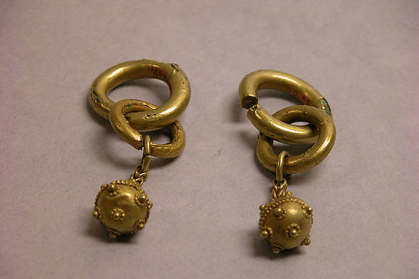 Earring (One of a Pair), Gold, Korea