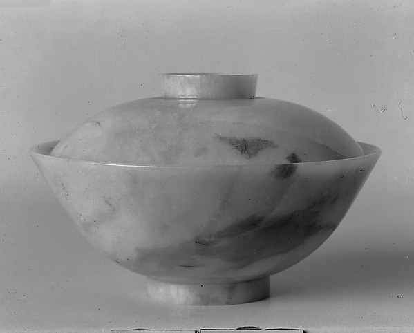 Covered bowl, Jadeite, China