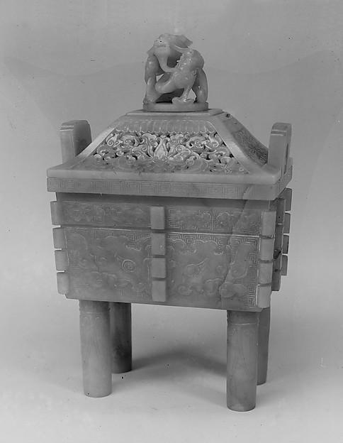 Incense burner, Nephrite, China
